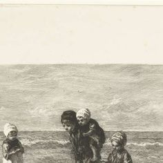 Kinderen der zee, Petrus Johannes Arendzen, Jozef Israëls, 1872 - 1909 - Rijksmuseum