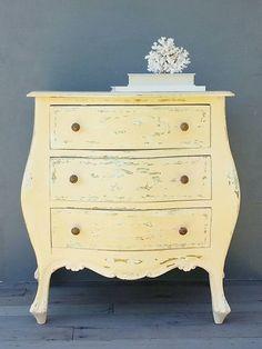 SOLD !! Vintage Petite Bombay Dresser  Side Table  by HingeModernVintage