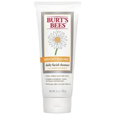 Burt's Bees Brightening Daily Facial Cleanser. http://beautyeditor.ca/2016/09/06/how-to-wash-face