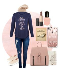 A fun little look I put together that cost less then 100 with the main clothing plus the hat and bag.   For the Love of Books by tiny-pixe on Polyvore featuring polyvore, fashion, style, LC Trendz, Keds, Sole Society, Estée Lauder, Deborah Lippmann, Lucky Brand, clothing, #simple, #books, #plussize and #under100
