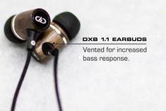 7be68447b7f Vented Black walnut hardwood housing for increased bass response. Bass,  Hardwood, Headphones,. DD Audio