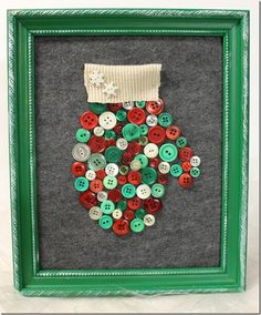 christmas-craft-with-buttons