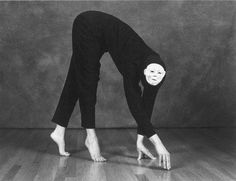 mime spooky looking surrealist circus mime artist