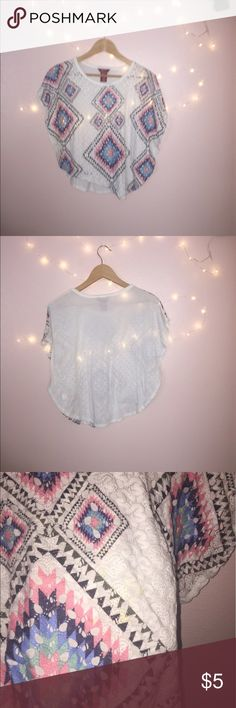 Girls Crochet Blouse Crochet Front. Small stain (pictured), have not tried to spot clean Shirts & Tops Blouses