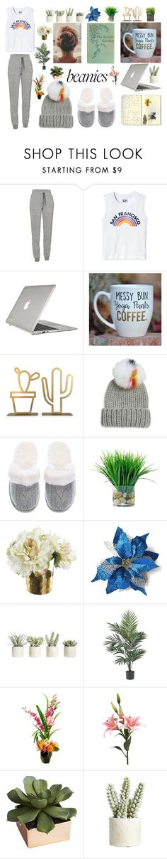 """""""Chill Day: Pom Pom Beanie"""" by gryffindor-designer ❤ liked on Polyvore featuring Icebreaker, Todd Snyder, Moleskine, Speck, Eugenia Kim, Victoria's Secret, Allstate Floral, Nearly Natural, Designs by Lauren and CB2"""