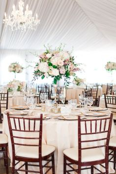 Classic + Elegant San Diego Wedding is part of Tall wedding centerpieces This elegant San Diego celebration is the kind of wedding every girl dreams about The type of perfect day that& overflowing - Tall Wedding Centerpieces, Wedding Reception Flowers, Wedding Flower Arrangements, Floral Wedding, Wedding Decorations, Table Decorations, Centerpiece Ideas, Tall Flower Centerpieces, Floral Arrangements