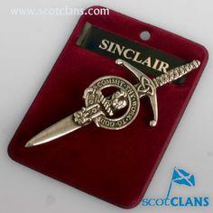 Sinclair Clan Crest Kilt Pin