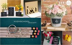 High school wedding theme #greenwedding #weddingideas #weddingthemes. For saving time and money of modern and full-time working brides and grrom, KISS Wedding Event has created 22 wedding concepts for wedding decoration, using popular color palettes in 2014 such as pastel pink, hot pink, red and white, white and silver, sequin golden, etc and special storylines such as highschool love, autumn love, love bus journey. http://kisswe.com/weddingconceptoftheyear2014/