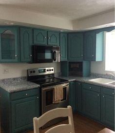 Kitchen Cabinet Colors, Kitchen Cabinets, Exterior Paint, Interior And Exterior, New Kitchen, Kitchen Ideas, Yellow Kitchen Designs, Cabinet Ideas, Behr