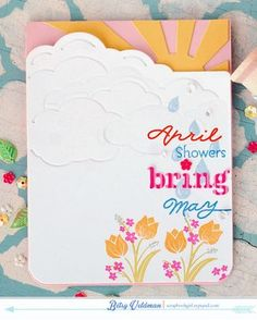 April Showers Card by Betsy Veldman for Papertrey Ink (February 2015)