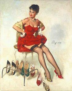 "/""Everything Seems Awfully High/"" 1946 Waitress Elvgren Pin-Up Girl Poster 16x20"