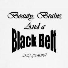 Martial Arts- Beauty Brains and A Black Belt- Karate Shirt., via Etsy.