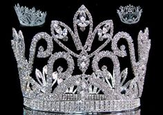 Mariola Rhinestone Beauty Full Round Silver Pageant Crown