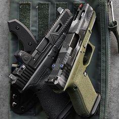 Colonel blade in a sheath. Agency Arms, Custom Glock, Firearms, Shotguns, Guns And Ammo, Tactical Gear, Airsoft, Hand Guns, Weapons