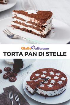 La TORTA PAN DI STELLE è una torta facile, veloce e senza cottura. Strati di biscotti al cacao si alternano a panna montata e pezzetti di cioccolato fondente! Un dolce perfetto anche per la Festa del papà. #giallozafferano #torta #pandistelle #cake #ricettefacili #ricetteveloci #festadelpapà #fathersday #dolcifacili #dolciveloci #senzacottura #nobake Minnie Mouse Birthday Cakes, Biscotti, Nutella, Tiramisu, Cheesecake, Cooking, Breakfast, Ethnic Recipes, Sweet