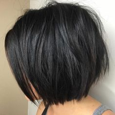 60 Most Beneficial Haircuts for Thick Hair of Any Length bob haircut styles for black hair - Black Haircut Styles Short Layered Bob Haircuts, Best Bob Haircuts, Bob Haircuts For Women, Short Hairstyles For Thick Hair, Layered Bob Hairstyles, Haircut For Thick Hair, Short Hair Cuts, Short Hair Styles, Curly Hairstyles