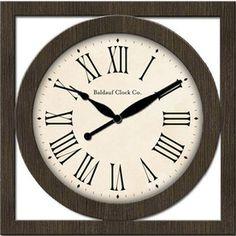 allen + roth 24-in Brown Indoor Clock