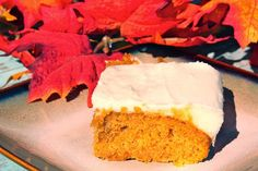My Recipe Box: Paula Deen's Pumpkin Bars with Cream Cheese Frosting