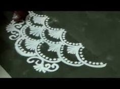 how to draw finger easy fancy small rangoli design YouTube