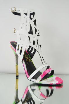 Lust for Life Fusion Multi White Pink Snake Skin Leather