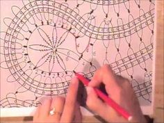 How to Crochet Bruges Lace Tape Tutorial 19 Part 2 of 2 Кайма или лента в технике брюггского кружева - YouTube