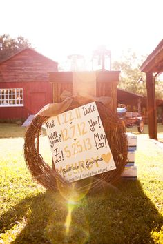 love this handpainted sign! | Candace Nelson #wedding
