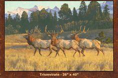 DanMetz Art – Elk painting