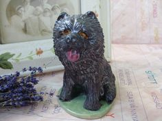 Rare vintage Hungarian ceramic dog,puli by GraceVintageDesigns on Etsy
