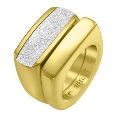 Modischer Joop Doppel-Ring mit Zirkonia JPRG10630A http://www.thejewellershop.com/ #joop #fashion #schmuck #ring #doppel #zirkonia #gold #steel #silber #jewelry