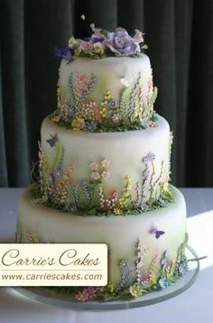 """Spring Meadow"" Wedding Cake"