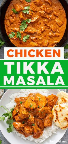 The best homemade Chicken Tikka Masala recipe like you get at your favorite Indian restaurant! With tender, juicy pieces of charred chicken, swimming in an unbelievable luscious, flavor-packed creamy tomato sauce, it will make your taste buds sing with every bite. Easy Crockpot Chicken, Easy Chicken Recipes, Indian Chicken Dishes, Easy Delicious Recipes, Simple Recipes, Tasty, Healthy And Unhealthy Food, Creamy Tomato Sauce, Chicken Tikka Masala