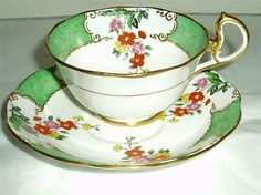vintage Royal Albert china teacup and saucer chintz pattern 1554