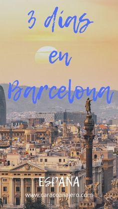3 días en Barcelona sin perderse nada. #Barcelona #españa #caracolviajero Barcelona Travel, Madrid Barcelona, Travelling Tips, Travel Tips, Traveling, Places To Travel, Places To Visit, Travel Planner, Spain Travel