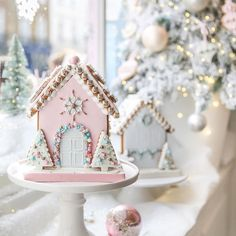 #Repost @peggyporschenofficial  Our Piece de Resistance - the Bejewelled Gingerbread House. Inspired by the pretty pastel facades of West London it is available in different colours and styles. Each house has been painstakingly crafted and decorated by hand and comes in a beautiful luxury gift box. Order online for collection or delivery to Central London. #gingerbreadhouse #pastelchristmas #allthatglitters #christmascollection #peggyporschen