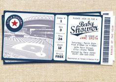Baseball baby shower invitation for the little slugger!