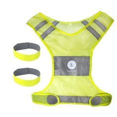Reflective Safety Vest. Including Two 3M Reflective Bands for Jogging, Running, Walking Biking and Cycling. $18.85 (61% OFF)