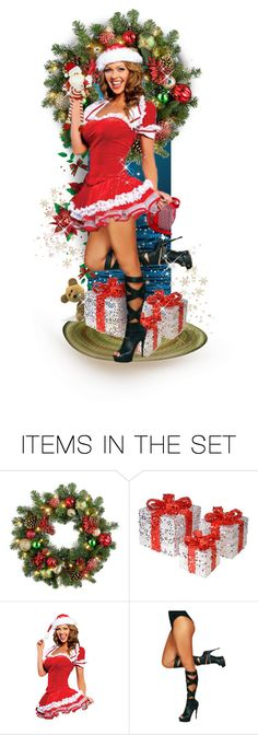 """""""Oops, It´s Christmas Again !"""" by mari-777 ❤ liked on Polyvore featuring art, Christmas, funny and doll"""
