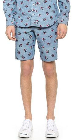 Gitman Vintage I Love NY Blue Shorts