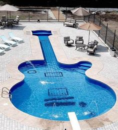 Guitar shaped pool @  Spence Manor, Nashville, Tennessee http://wikimapia.org/3121970/The-Spence-Manor-and-the-Webb-Pierce-guitar-shaped-swimming-pool