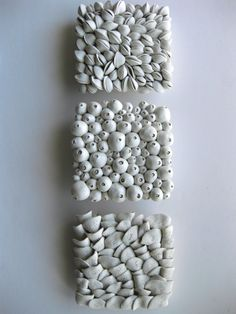Ensemble de trois tuiles de Sculpture murale par DillyPad sur Etsy