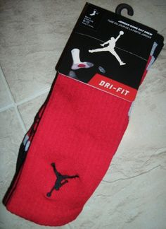 5f0779b4aeba7a MICHAEL JORDAN CREW ELITE BASKETBALL SOCKS BULLS JERSEY SHOE 8 9 10 11 12  LARGE