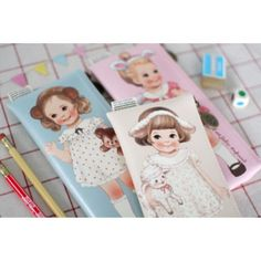 Paper Doll Mate Headband Pen Pouch (◕ᴥ◕) Kawaii Panda - Making Life Cuter