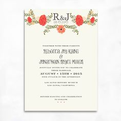 Petit Jardin Wedding Invitations
