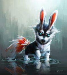 Cute Fantasy Creatures | Fluffy Pup Picture (2d, illustration, fantasy, creature)