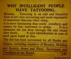 """""""tattooing is an odd and beautiful form of art"""""""