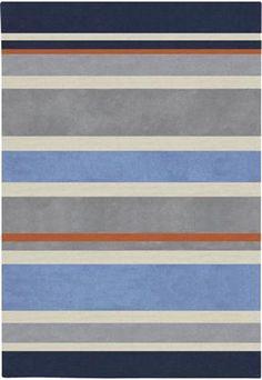 Hand Tufted Grasse Stripe Rug (4'10 x 7'), Multi, Size 4'10 x 7'