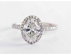 1.63 Carat Diamond in the Blue Nile Studio Oval Cut Heiress Halo Diamond Engagement Ring | Blue Nile