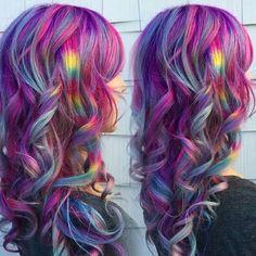 Color melded mermaid hair