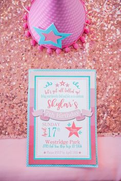 Invitation from an American Girl Doll Inspired Birthday Party via Kara's Party Ideas | KarasPartyIdeas.com | The Place for All Things Party! (12)