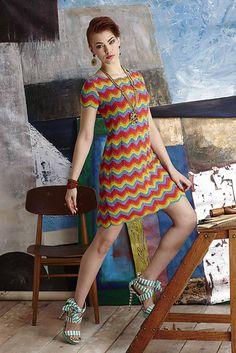 Ravelry: #22 Missoni-Inspired Shift Dress pattern by Kazekobo (風工房)